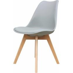Set van 4 stoelen - Alba stoelen - grijs - lagom