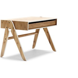 Geo's kids bureau - Bamboe hout - B79 x H45 x D39 cm - Lichtgrijs
