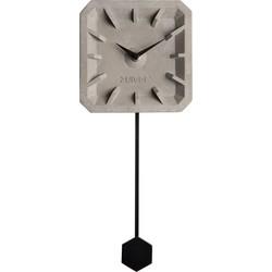 Zuiver Klok TikTak zwart beton 37,5 x 15,5 x 4