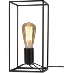 Tafellamp ijzer Antwerp rechthoek, zwart
