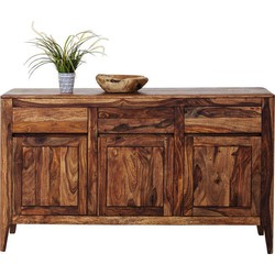 Kare Design Dressoir Brooklyn Nature - L145 X B40 X H85 Cm - Sheesham Hout