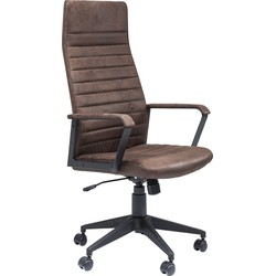 Kare Design Bureaustoel Labora High Brown - Bruin