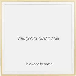 Houten wissellijst Wit + Blank - Fotolijst - Kunststof venster - Div. formaten - 20x25 cm