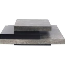 TemaHome Salontafel Slate - 90x90x30 - Grijs/Zwart
