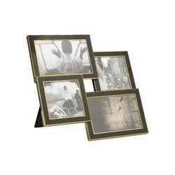 Biba Gold and black multi aperture frame, Black