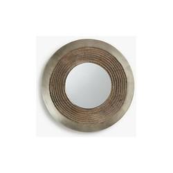 John Lewis & Partners Flynn Round Fusion Mirror, Dia.24cm, Antique Pewter