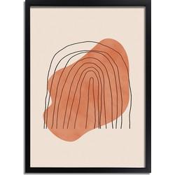 Regenboog Lijnen Poster DesignClaud- A2 + fotolijst zwart
