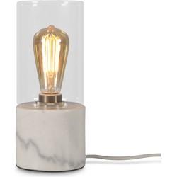 Tafellamp glas/marmer Athens, wit