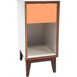 PIX nachtkastje klein met wit frame en oranje voorkant