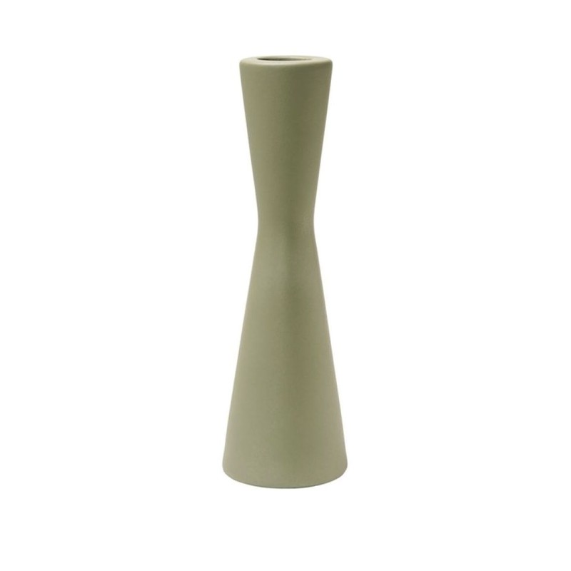 Laura kandelaar - Mat groen - 6,5 x 21 cm -