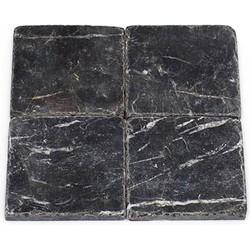 Toros Black Tumbled 10 x 10 x 1 cm
