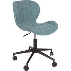 Zuiver bureaustoel OMG blauw 76 - 88 x 65 x 65