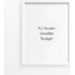 A2 Frame Budget - Wissellijst Wit