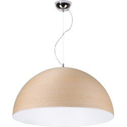 Linea Verdace Hanglamp Cupula+ Wit Ø50 Cm - Brown Rope