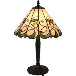 Clayre & Eef Tafellamp Tiffany Ø 31x48 cm / E27 / Max. 1x60 Watt