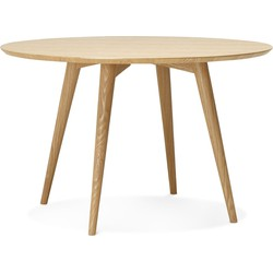 24Designs Ronde Eettafel Sami  - Ø120x75 - Essenhout Naturel