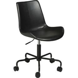 Dan-Form Hype Bureaustoel - Zwart Vintage Kunstleer