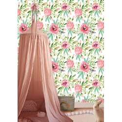 Vliesbehang Roos multicolour 60x244 cm
