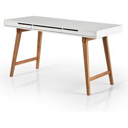 24Designs Bureau - Sidetable Anna - L140 X B60 X H75 Cm - Mat Wit