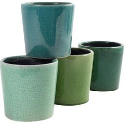 Serax Craque Bloempot 15 cm Set van 4 - Groen