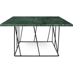 TemaHome Salontafel Helix Zwart - 75x75x40 - Groen Marmer