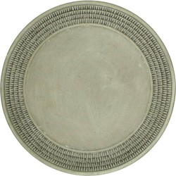 Plate Cement Grey 33cm