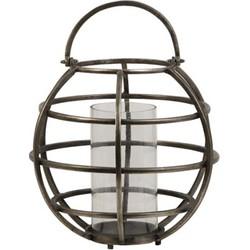 Lantaarn Ø40x49 cm TILA draad donker ruw nikkel-glas