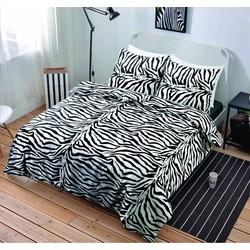 Dekbedovertrek Zebra Maat: Lits-jumeaux (240 x 220 cm + 2 kussenslopen)