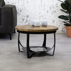 Industriële salontafel Oxis 70 cm