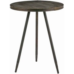 Mica Decorations tafel rond messing maat in cm: 51,5 x 40