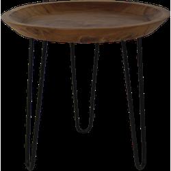 Salontafel met hairpin poten - 50 cm - naturel wax