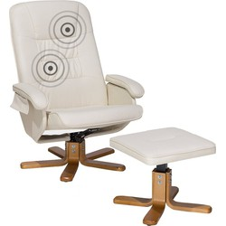 Massagestoel - Lederen stoel in beige - RELAXPRO