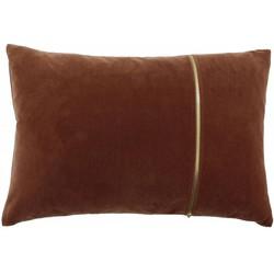 Sierkussen Rosana in de kleur Ash Rose met gouden rits - 40x60cm