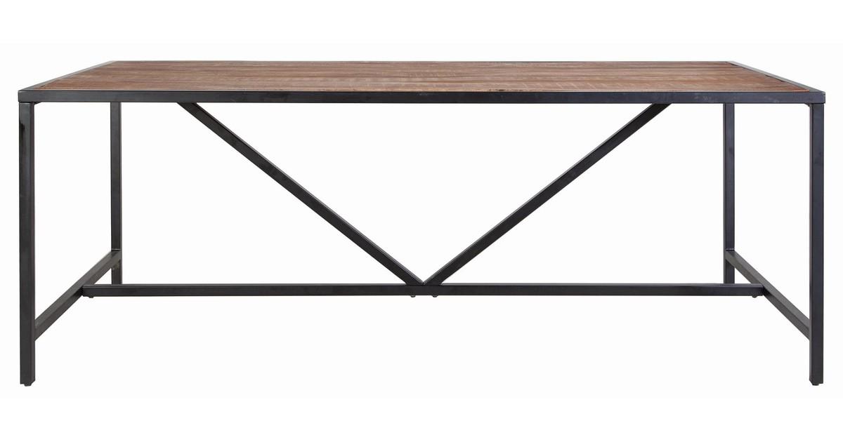 Eleonora Soho Eettafel 160x90x76 Cm – Tafelblad Mangohout – Metalen Frame vergelijken Eleonora