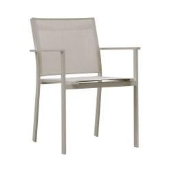 Cozy Bay Verona Aluminium & Sling Dining Chair Taupe