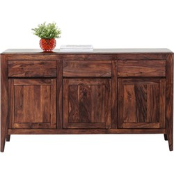 Kare Design Dressoir Brooklyn Walnut - 145x40x85 - Sheeshamhout