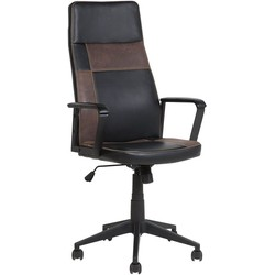 Bureaustoel zwart/bruin hoogteverstelbaar DELUXE