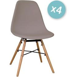 Zons - Set van 4 stoelen - Taupe