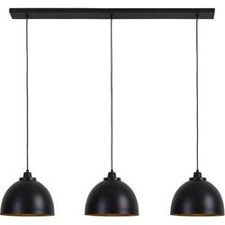 Hanglamp Kylie mat zwart-goud 3 lichtpunten