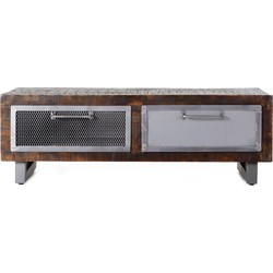 Eleonora Brooklyn Salontafel 2-Laden - 120x60x40 Cm - Mangohout
