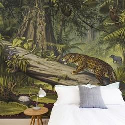 In het Braziliaanse oerwoud - 200x260 cm (BxH)