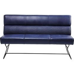 Kare Design Melange Eetkamerbank 3-Zits - B180 Cm - Kunstleer Blauw