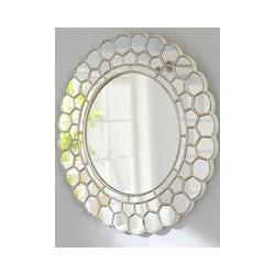 Pottery Barn Kids Circle Blossom Mirror, 73.6 x 74.9cm, Silver
