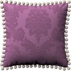 Kussenhoes Wera met pompons paars