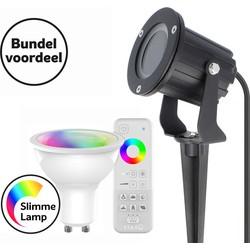 Prikspot Mira inclusief Smart LED GU10 full color en afstandsbediening
