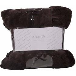 Nightlife - Plaid - Fluffy - Lycra / elastaan - Bruin