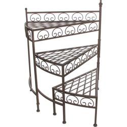Mica Decorations othello etagere voor planten donkerbruin inklapbaar - maat in cm: 52,5 x 31,5 x 66