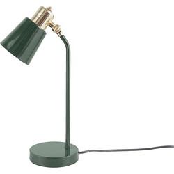 Leitmotiv Classic Tafellamp Ijzer 21 x 13 x 40 cm - Donkergroen