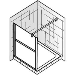 Ben Danto Zijwand 90x200 cm wit / helder glas