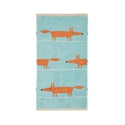 Scion Mr fox towels hand aqua